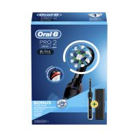 Oral-B Pro 2 2500 Επαναφορτιζόμενη Ηλεκτρική Οδοντόβουρτσα Black Edition Με Bonus Θήκη Ταξιδίου