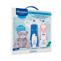 Mustela Set Limited Edition Με Απαλό Αφροντούς Σώματος/Μαλλιών 500ml & Κρέμα Ενυδάτωσης Σώματος 500ml & Δώρο Αρκουδάκι