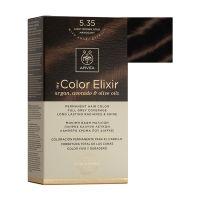 Apivita My Color Elixir Μόνιμη Βαφή Μαλλιών 5.35 Καστανό Ανοιχτό Μελί Μαονί