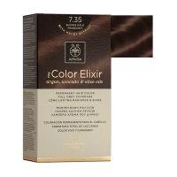 Apivita My Color Elixir Μόνιμη Βαφή Μαλλιών 7.35 Ξανθό Μελί Μαονί