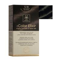 Apivita My Color Elixir Μόνιμη Βαφή Μαλλιών 5.18 Καστανό Ανοιχτό Σαντρέ Περλέ