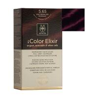 Apivita My Color Elixir Μόνιμη Βαφή Μαλλιών 5.65 Καστανό Ανοιχτό Κόκκινο Μαονί