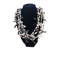 Χειροποίητα Κοσμήματα με Ημιπολύτιμους Λίθους Pdesign Κολιέ με Χάντρες από Κοχύλια & Φίλντισι