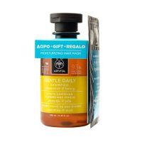 Apivita Set Με Gentle Daily Απαλό Σαμπουάν Καθημερινής Χρήσης 250ml & Δώρο Express Beauty Μάσκα Μαλλιών Για Ενυδάτωση Με Υαλουρονικό Οξύ 20ml