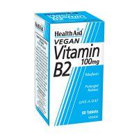 Health Aid Vegan Vitamin B2 100mg 60 Ταμπλέτες