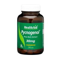 Health Aid Pycnogenol (Pine Bark Extract) 30mg Vegan 30 Ταμπλέτες