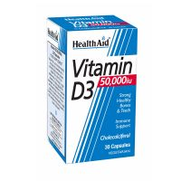 Health Aid Vitamin D3 50000IU 30 Κάψουλες