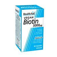 Health Aid Vegan Biotin 5000mcg 60 Κάψουλες