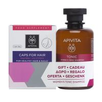 Apivita Set Με Συμπλήρωμα Διατροφής Για Υγιή Μαλλιά & Νύχια 30 Κάψουλες & Δώρο Τονωτικό Σαμπουάν Για Γυναικεία Τριχόπτωση Με Hippophae TC & Δάφνη 250ml