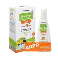 Frezyderm Set Με Lice Free Ειδική Αγωγή Για Την Εξάλειψη Των Ψειρών Με Σαμπουάν 125ml & Λοσιόν 125ml & Δώρο Προληπτική Αντιφθειρική Λοσιόν 80ml