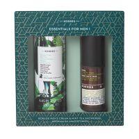 Korres Essentials For Men I Φρεσκάδα & Αναζωογόνηση Set Με Αφρόλουτρο Πράσινο Τσάι 250ml & Borage Ενυδατική Κρέμα Για Το Ανδρικό Δέρμα Spf6 50ml