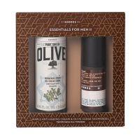 Korres Essentials For Men II Περιποίηση & Τόνωση Set Με Olive Αφρόλουτρο Κέδρος 250ml & Σφένδαμος Αντιρυτιδική & Συσφιγκτική Κρέμα Προσώπου/Ματιών Για Το Ανδρικό Δέρμα 50ml