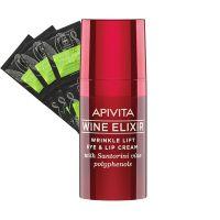 Apivita Set Με Wine Elixir Αντιρυτιδική Κρέμα Lifting Για Τα Μάτια & Τα Χείλη 15ml & Prickly Pear Μάσκα Για Ενυδάτωση 2x8ml 3τμχ