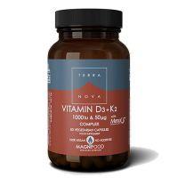 Terranova Vitamin D3 & K2 1000IU & 50mcg Complex 50 Veg Caps