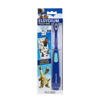 Elgydium Power Kids Ice Age Μπλε Οδοντόβουρτσα Με Μπαταρία