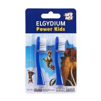 Elgydium Power Kids Ice Age Ανταλλακτικά Κεφαλής Μπλέ 2τμχ