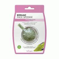 Vican Wise Beauty Konjac Face Sponge Σφουγγάρι Καθαρισμού Προσώπου Με Πράσινο Τσάι