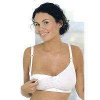 Carriwell Seamless Original Σουτιέν Εγκυμοσύνης & Θηλασμού Χωρίς Ραφές Λευκό L