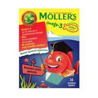 Moller's Omega-3 Μουρουνέλαιο Με Γεύση Φράουλα 36 Ζελεδάκια Ψαράκια