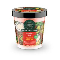 Organic Shop Body Desserts Tropical Mix Απολεπιστικό Σώματος Για Σμίλευση Με Άρωμα Τροπικών Φρούτων 450ml