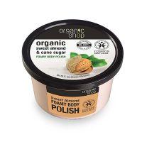 Organic Shop Body Polish Αφρώδες Scrub Σώματος Με Γλυκό Αμύγδαλο & Ζάχαρη Ζαχαροκάλαμου 250ml