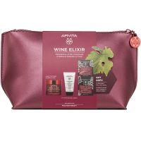Apivita Set Wine Elixir Αντιρυτιδική Κρέμα Προσώπου Για Σύσφιξη & Lifting Eλαφριάς Υφής Για Λιπαρές/Μικτές Επιδερμίδες 50ml & Δώρο Γαλάκτωμα Καθαρισμού Προσώπου/Ματιών 3 Σε 1 50ml & Express Beauty Αντιρυτιδική & Συσφιγκτική Μάσκα Προσώπου Mε Σταφύλι 2*8m