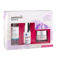 Panthenol Extra Skin Power Set Με Αντιρυτιδικό Ορό Προσώπου/Ματιών 30ml & Κρέμα Προσώπου Ημέρας Για Ενυδάτωση Spf15 50ml & Καθαριστικό Micellar 100ml