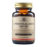 Solgar L-Phenylalanine 500mg Free Form Αμινοξέα 50 Veg. Caps