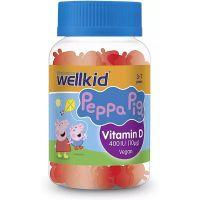 Vitabiotics Wellkid Peppa Pig Vitamin D Συμπλήρωμα Διατροφής Για Παιδιά 3-7 ετών Με Γεύση Φράουλα 30softgels