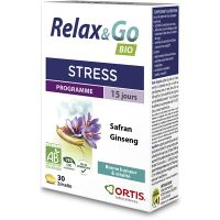 Ortis Relax & Go Συμπλήρωμα Διατροφής Με Ginseng & Safran 30 Δισκία