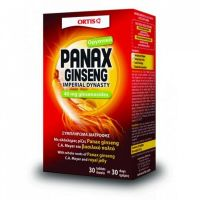 Ortis Panax Ginseng Συμπλήρωμα Διατροφής Για Τόνωση & Ενέργεια 30 Δισκία