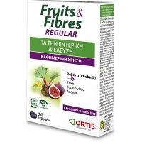 Ortis Fruits & Fibres Συμπλήρωμα Διατροφής Για Τη Δυσκοιλιότητα 30 δισκία