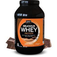 QNT Delicious Whey Protein Powder Για Μυϊκή Ανάπτυξη Με Γεύση Belgian Chocolate 908g