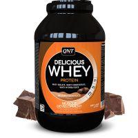 QNT Delicious Whey Protein Powder Για Μυϊκή Ανάπτυξη Με Γεύση Belgian Chocolate 2.2kg