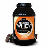 QNT Delicious Whey Protein Powder Για Μυϊκή Ανάπτυξη Με Γεύση Cookies & Cream 2.2kg