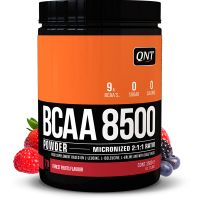 QNT BCAA 8500 Συμπλήρωμα Διατροφής Με Γεύση Φρούτα Του Δάσους Για Μυϊκή Συντήρηση & Απόδοση 350g