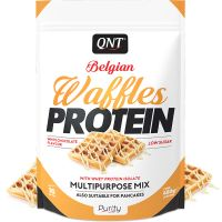 QNT Belgian Waffles Protein Μείγμα Πρωτεΐνης Πολλαπλών Χρήσεων Με Γεύση White Chocolate 480g