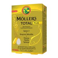 Moller's Total Plus Ολοκληρωμένο Συμπλήρωμα Διατροφής Ωμέγα-3, Βιταμινών, Μετάλλων & Βοτάνων 28caps + 28tabs
