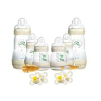 Mam Set Δώρου Για Το Νεογέννητο Με 6 Μπιμπερό Easy Start Anti-Colic (2x130ml) 0m+, (2x160ml) 0m+, (2x260ml) 2m+ & 2 Mam Start Πιπίλες 0-2m & 2 Mam Perfect Πιπίλες & Mam Soft Brush Βούρτσα Καθαρισμού Για Μπιμπερό & Θηλές