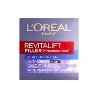 L'Oreal Paris Revitalift Filler Renew Αντιγηραντική & Συσφικτική Κρέμα Νυκτός με Υαλουρονικό Οξύ 50ml