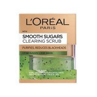 L'oreal Paris Smooth Sugars Clearing Scrub Προσώπου Για Φρέσκια, Λαμπερή & Απαλή Επιδερμίδα 50ml