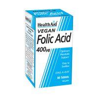 Health Aid Folic Acid 400μg Απαραίτητο Κατά Την Εγκυμοσύνη Vegan 90 Ταμπλέτες
