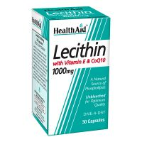 Health Aid Lecithin 1000mg + Vitamin E + CoQ10 30 κάψουλες
