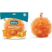 Balmy Βath Pouf Mε Πέρλες Σαπουνιού & Άρωμα Πορτοκάλι
