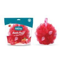 Balmy Βath Pouf Mε Πέρλες Σαπουνιού & Άρωμα Φράουλα