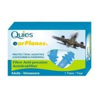 PharmaQ Quies EarPlanes Ωτοασπίδες Ενηλίκων Ειδικές για Αεροπορικά Ταξίδια 1 ζευγάρι