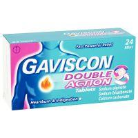Gaviscon Double Action Μασώμενα Δισκία για Ανακούφιση από την Καούρα & Δυσπεψία 24 δισκία