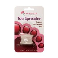 Carnation Toe Speader Μαλακό Διαχωριστικό για το Μεγάλο Δάχτυλο του Ποδιού 2τμχ