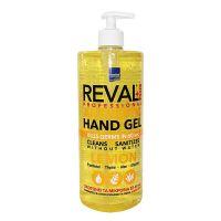 Reval Plus Antiseptic Hand Gel Αλκοολούχος Αντισηπτική Γέλη Με Άρωμα Λεμόνι 1lt