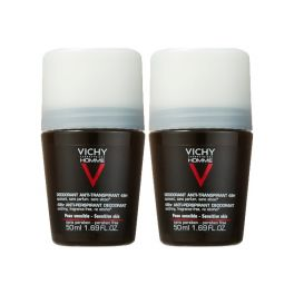 Vichy Homme Deodorant Anti-Transpirant Roll-On 48h 50mlx2